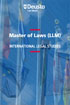 Master of Laws (LLM) in International Legal Studies